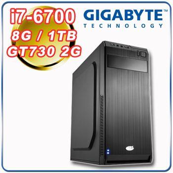 |技嘉H170平台|電競入門 Intel i7-6700四核 8G記憶體 1TB大容量 GT730 2G 電玩桌上型電腦