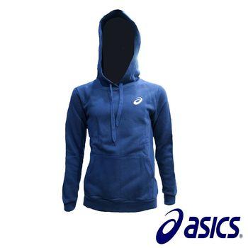 【Asics 亞瑟士】 運動長袖帽T K31604-50(藍)