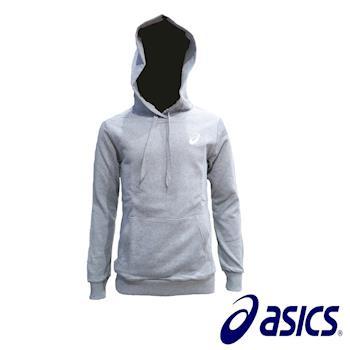 【Asics 亞瑟士】 運動長袖帽T K31604-10(灰)-行動