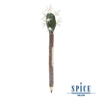 【日本 SPICE 】天然獨特 F仙人掌 造型圓珠筆
