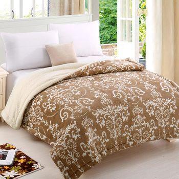 《HOYACASA 典雅風尚》羊羔絨加大厚毛毯