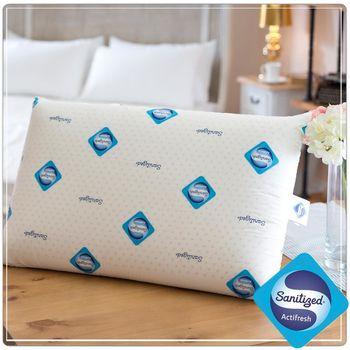 【Sanitized山寧泰】瑞士防蹣抗菌100%天然乳膠枕-2入組