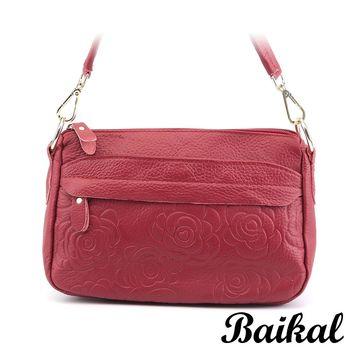 【BAIKAL】古典美玫瑰牛皮包(共4色)