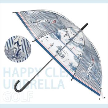 日本 HAPPY CLEAR UMBRELLA GOLF 高爾夫 晴天 雨傘