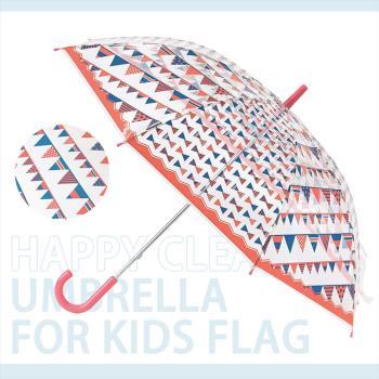 日本 HAPPY CLEAR UMBRELLA FLAG 派對紅 晴天 雨傘