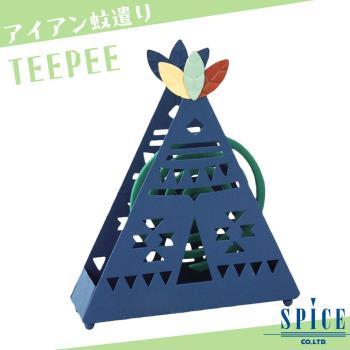 【日本 SPICE】日系 TEEPEE 帳篷 造型蚊香盒 / 露營 登山 防蚊