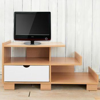 【澄境】雙層收納側架電視櫃