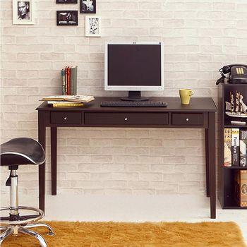 【澄境】古典英倫雙抽書桌電腦桌-胡桃 -三色可選