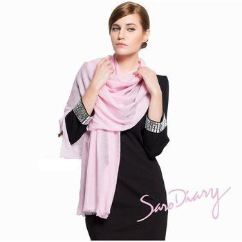 【Saro Diary莎蘿日記】100%純羊毛 超柔軟溫暖圍巾 (粉W-06PI)