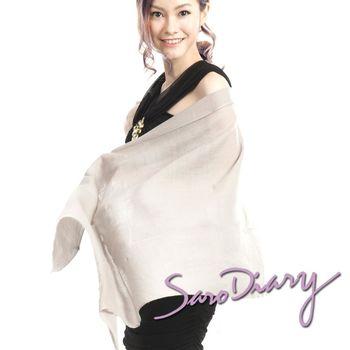 【Saro Diary莎蘿日記】100%純羊毛 超柔軟溫暖圍巾 (淺駝W-16PC)