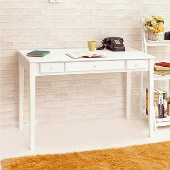 【澄境】古典英倫三抽書桌電腦桌 -三色可選