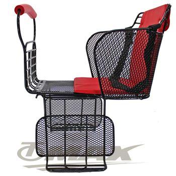 鐵馬行自行車舒適兒童安全後座椅-台製-紅