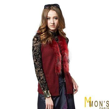 MONS精選皮草羊毛針織背心(CD3502)