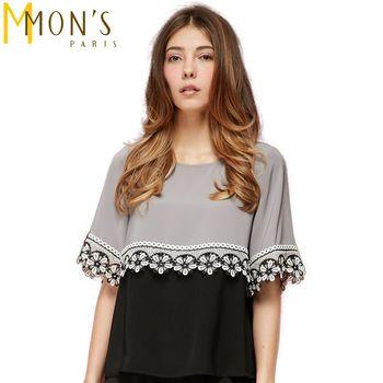 MONS歐風花園寬版蕾絲上衣(CA6532)