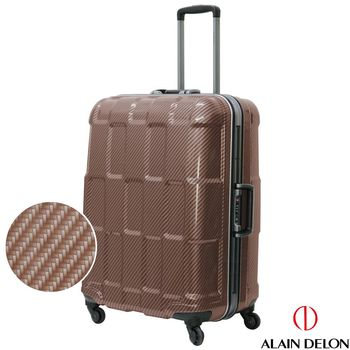 ALAIN DELON 亞蘭德倫 25吋TPU系列鋁框行李箱(咖)
