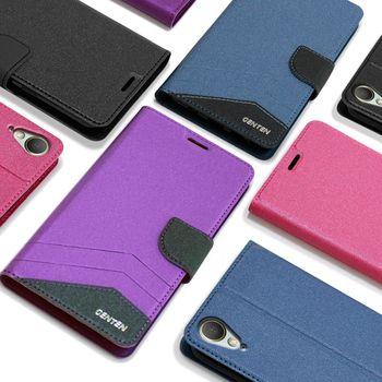 GENTEN HTC Desire 10 Lifestyle 英倫典藏側翻支架皮套
