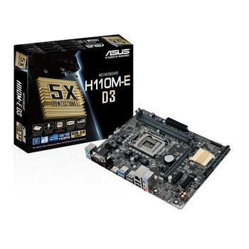 ASUS 華碩 H110M-E D3 主機板 / 1151腳位 / DDR3 / ATX