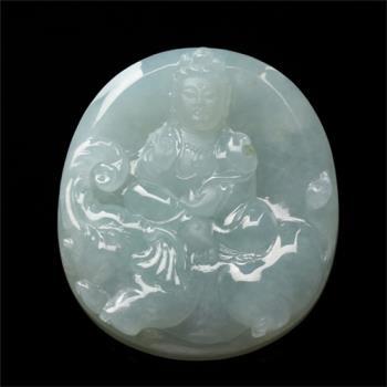 【限量極品】雅紅珠寶 所求滿願天然冰種翡翠項鍊-普賢菩薩