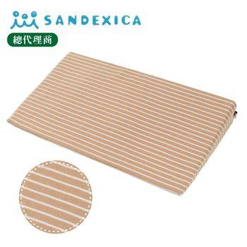 台灣總代理 日本Sandexica寶寶防吐奶枕/孕婦托腹枕 - 卡其條紋
