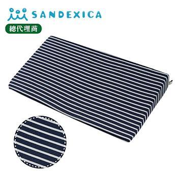 台灣總代理 日本Sandexica寶寶防吐奶枕/孕婦托腹枕 - 藍白條紋