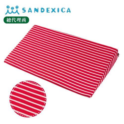 台灣總代理 日本Sandexica寶寶防吐奶枕/孕婦托腹枕 - 紅白條紋