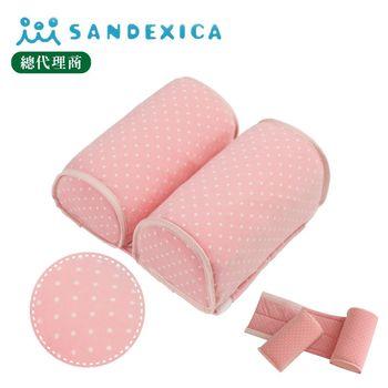 台灣總代理 日本Sandexica寶寶機能防側翻枕/兒童護頸枕-粉色點點