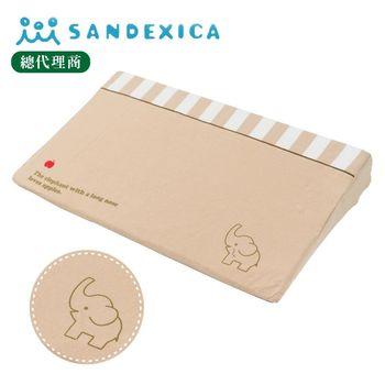 台灣總代理 日本Sandexica寶寶防吐奶枕/孕婦托腹枕 - 卡其小象