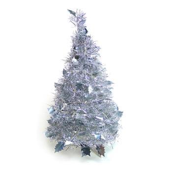 2尺/2呎(60cm) 創意彈簧摺疊聖誕樹-銀色系