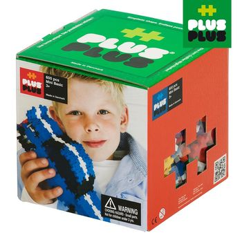 【BabyTiger虎兒寶】++Plus-Plus 加加積木 - Mini 小顆粒-彩虹系列 600 pcs (盒裝)
