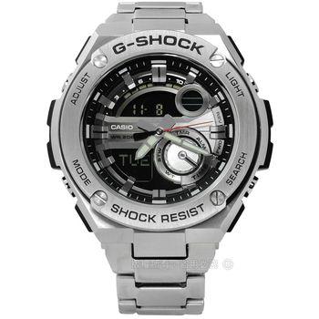 G-SHOCK CASIO / GST-210D-1A / 卡西歐極酷冒險運動雙顯不鏽鋼手錶 黑色 51mm
