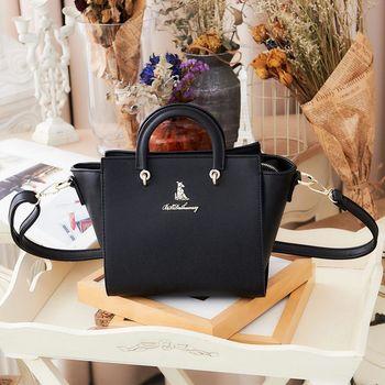 冰山袋鼠 日系春色好感系列小蝙蝠包-9010 -時尚黑