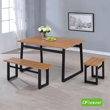 《DFhouse》英式工業風-餐桌+1雙人餐椅+1單人餐椅