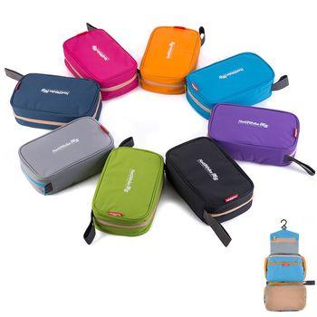 PUSH!旅遊用品防水防撕裂盥洗用具包便攜出差洗簌牙刷包(升級款)S42-2天藍