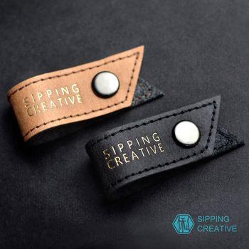 俬品創意 - 設計款紙革耳機收納夾 (雙色一組)