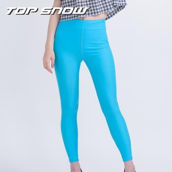 【Top Snow】美國杜邦萊卡日光抗UV修身美腿瑜珈褲(防曬 萊卡 縮腰激瘦)