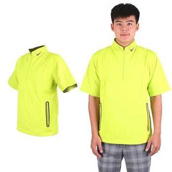 【NIKE】GOLF男抗水防風系列短袖外套- 風衣外套 立領 芥末綠黑