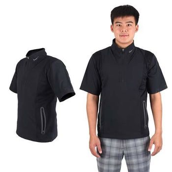 【NIKE】GOLF男抗水防風系列短袖外套- 風衣外套 立領 黑