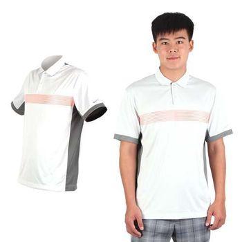 【NIKE】GOLF 男快速排汗短袖 POLO衫 高爾夫球 淺灰橘