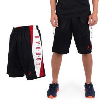 【NIKE】男針織短褲 -JORDAN 喬丹 籃球 籃球褲 黑白紅