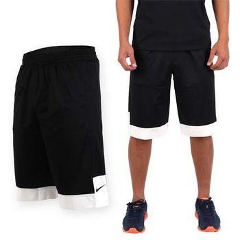 【NIKE】男針織短褲 -路跑 慢跑 籃球褲 黑白