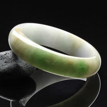 【限量極品】【雅紅珠寶】綠野仙踪天然三彩圓形玉鐲(寬版#18.5)