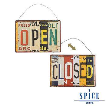 【日本 SPICE 】懷舊 復古風味 可掛式 標誌板