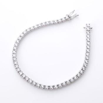 Dolly 幸福首選 2.5ct 鑽石手鍊 - 時尚白K金