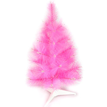 台灣製2尺/2呎(60cm)特級粉紅色松針葉聖誕樹裸樹 (不含飾品)(不含燈)