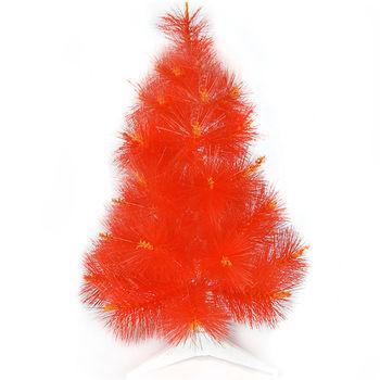 台灣製2尺/2呎(60cm)特級紅色松針葉聖誕樹裸樹 (不含飾品)(不含燈)