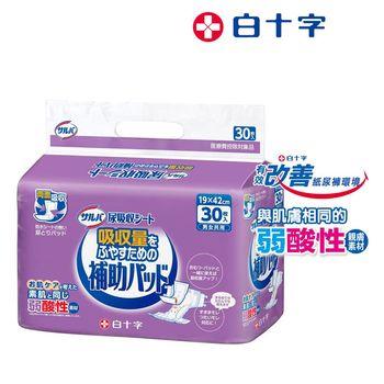 白十字  日本全透氣親膚雙面吸收尿片-褥瘡適用30片x6-箱購180片