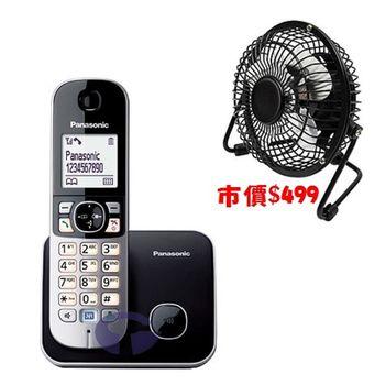 【Panasonic】DECT 數位無線電話 KX-TG6811 (贈USB風扇)