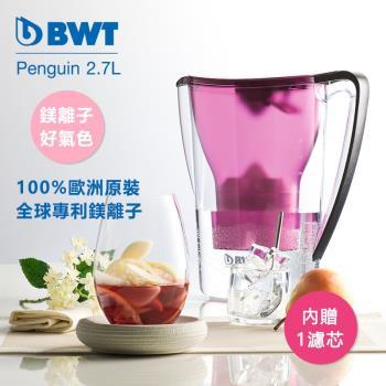 【BWT德國倍世】Mg2+鎂離子健康濾水壺2.7L–紫 (內含濾芯*1)