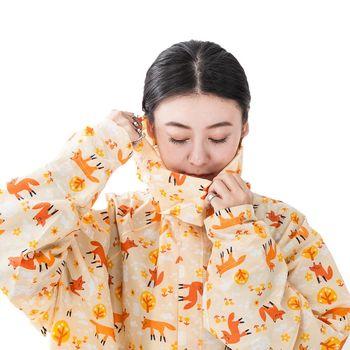 rainstory雨衣-瞇瞇眼狐狸連身甜美雨衣 (M號)