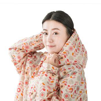 rainstory雨衣-粉彩花朵連身甜美雨衣 (M號)